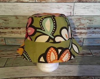 HBBK green flower bucket hat