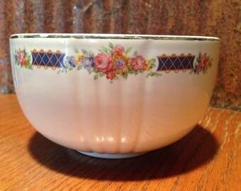 Vintage Hallu0027s Kitchenware, Blue Bouquet Platinum, Serving Bowl, Made In  The USA,