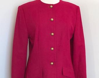 Vintage pink wool jacket by Pendleton • US Women's size 10