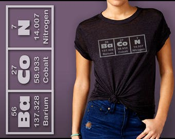 Bacon Lovers Shirt | Periodic Elements Chart