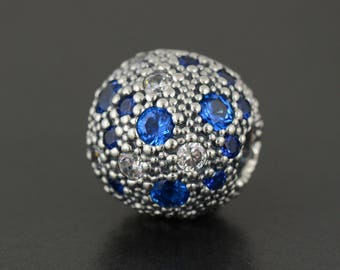 New Authentic Pandora Blue Cosmic Stars CZ Clip 791286NSBMX