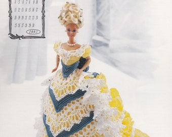 Miss April 1993, Annie's Victorian Lady Centennial Crochet Doll Clothes Pattern Booklet 7604