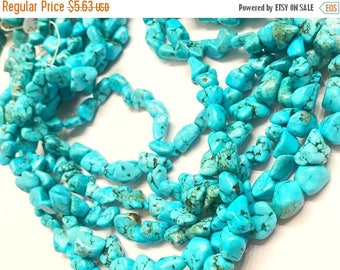 40% OFF Just Because Blue Magnesite Raw Nugget Natural Gemstone Beads, 8mm to 10mm, Nugget Beads, Blue Magesite Nuggets, Turquoise Nuggets