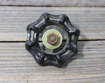 Black spigot or faucet handle, Hammond 546 steel spigot handle. Garden, faucet, faucet handle, handle, spigot handle, Hammond, 546