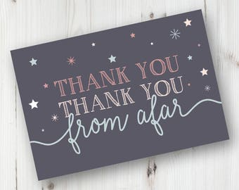 Printable Twinkle Twinkle Thank You Card, First Birthday Printable Thank You Card, Twinkle Twinkle One Year Old Is What You Are