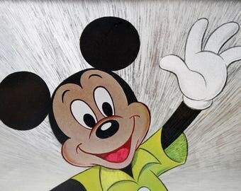 Mickey Mouse Dufex foil print in frame by The Walt Disney Company