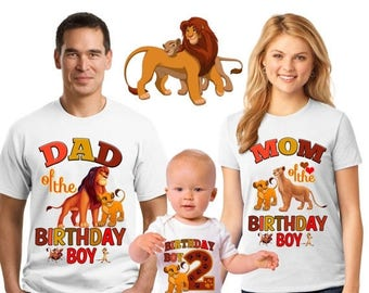 15% Off Lion king birthday shirt/the Lion king birthday shirts/family matching shirts/the lion king birthday party shirt/the lion king