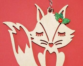 Fox christmas ornaments