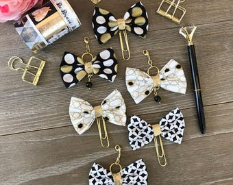 LE CHIC Bow Planner Clip TN Charm