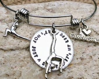 Gymnastics Bracelet, Gymnastics Jewelry, Gymnastics Gift, Gymnastics, Daughter gift, Gift for Athlete, Sports Gifts, Sports Jewelry