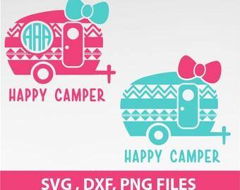 Instant Download, Aztec Happy Camper SVG, Aztec Happy Camper Bow Svg, traveler svg, DXF, PNG Formats 0150