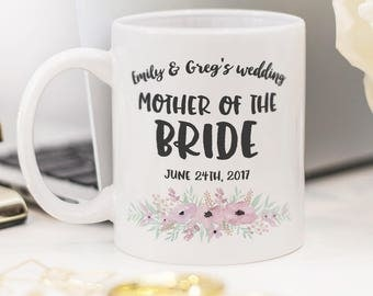 Mother of the Bride mug, beautiful wedding gift!