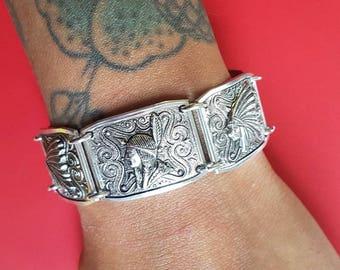 Vintage Native American bracelet - Thin