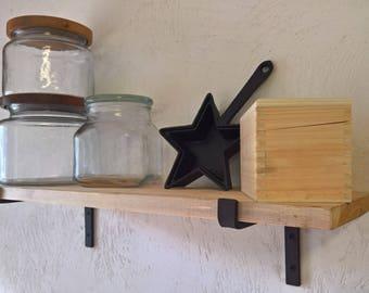 SALE! Bracket for Shelves, Iron Shelf Bracket, Forged Steel Shelf Bracket, Kitchen Bracket, Metal Shelf Bracket, Open Shelf, Farmhouse Decor