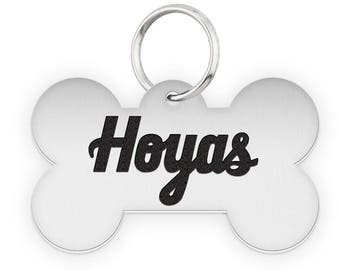 Georgetown University Hoyas Dog Tags | Pet Tags | Cat Tags | Necklace | College Pet Tags