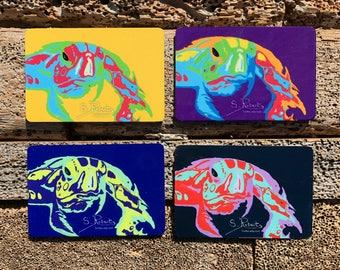 Warhol Inspired Elmer Turtle Magnets