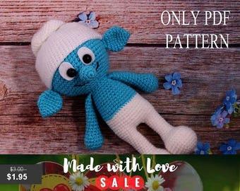35% Sale PDF PATTERN Toy Smurf crochet pdf amigurumi pattern pdf doll toy pdf pattern smurf pattern crochet pdf pattern amigurumi toy