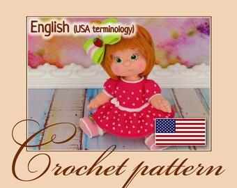 Amigurumi Pattern Crochet Doll - Varenka / PDF file by Anna Sadovskaya