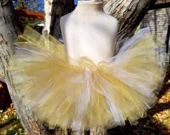 Gold and white tutu Christmas tutu  new years eve tutu holiday tutu festive tutu toddler tutu infant tutu photo prop star tutu sparkly tutu