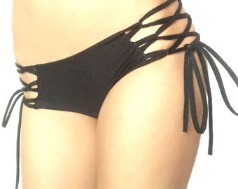 Strappy Bikini Bottom // Scrunch Bikini Bottom // Brazilian Bikini Bottom // More Colors Available