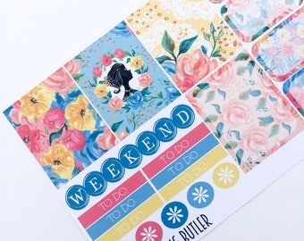W107-Mitford Manor Weekly Planner Stickers for the Erin Condren ECLP Vertical or Happy Planner. Planning Kit.