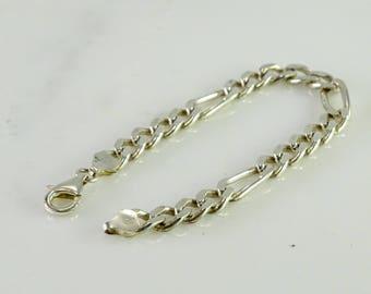 """Sterling Figaro Bracelet 8"""""""