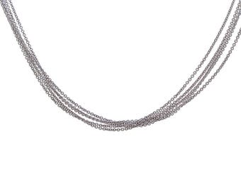"Five Strand Cable Link Chain Made In Italy 20"" 14K White Gold"