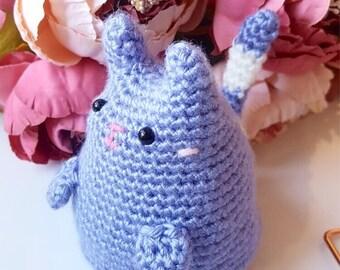 kitty cat dumpling   made-to-order   cute cat toy - handmade crochet - amigurumi - stuffed doll - plush