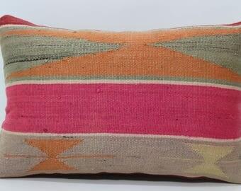 16x24 Kilim Pillow Patterned Kilim Pillow 16x24 Lumbar Pillow Throw Pillow Sofa Pillow Sofa Pillow Bohemian Pillow SP4060-732