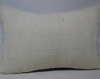 16x24 Turkish Kilim Pillow 16x24 Lumbar Kilim Pillow White Kilim Pillow Handwoven Kilim Pillow Cushion Cover SP4060-1193