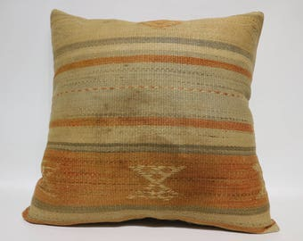Bohemian Kilim Pillow Throw Pillow 24x24 Large Kilim Pillow Bohemian Kilim Pillow Home Decor Throw Pillow Cushion Cover SP6060-1440