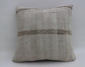 20x20 Kilim Pillows brown Striped Pillows Flat Woven Pillows Turkish Kilim Pillows Big Throw Pillow Large Cushion Cover Pillow  SP5050-2662