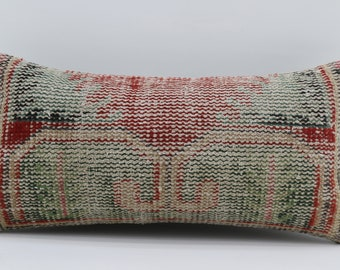 12x24 Pillow Cover  Striped Pillow Turkish Carpet Pillow Sofa Pillow 12x24 Floral Pillow Red Pillow Boho Pillow Black Pillow SP3060-1674