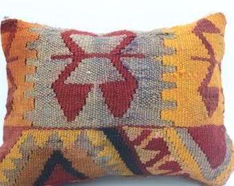 10x15 kilim pillow both side turkish kilim rug pillow geometric pillow turkish boho pillow bohemian pillow kelim kissen SP2638-4
