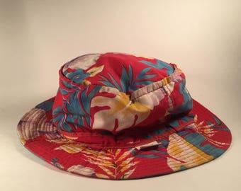 Vintage Kings Dominion Allover Print Floral Bucket Hat - Medium