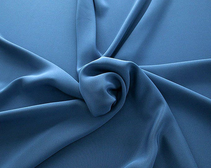 305155-Crepe marocaine Natural Silk 100%, width 130/140 cm, made in Italy, dry cleaning, weight 215 gr