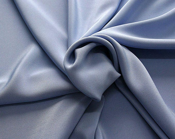 305149-Crepe marocaine Natural Silk 100%, width 130/140 cm, made in Italy, dry cleaning, weight 215 gr