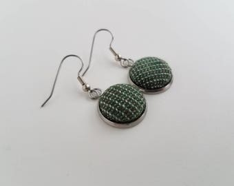 Wrap Scrap Jewelry - Earrings - Cari Slings - The 'Verse - Leaf on the Wind - Wrap Scrap - Babywearing - Firefly - Geek Gift