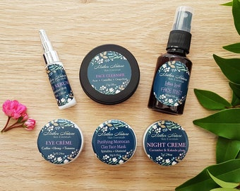Mini Essentials Facial Care Kit. Natural Skincare. Organic skincare. Travel size products.