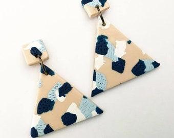 OCEAN Statement Triangle Earrings