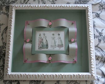 Frame engraving fashion romantic Louis XVIII