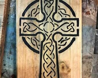 Celtic Cross Wood Art