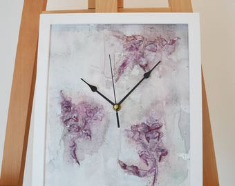 Purple Handmade Clock