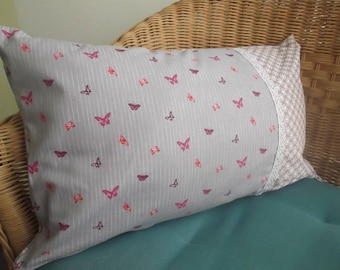 """""""Butterfly flew"""" rectangular pillow cover"""