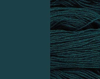 Wool Yarn, dark petrol, DK, 3-ply worsted knitting yarn 8/3 100g/130m
