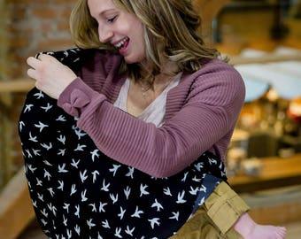 Bird Nursing Scarf - Breastfeeding Cover- New Mom Gift - Infinity Scarf - Infinity Scarf Women - Breastfeeding Scarf - New Mom Survival Kit