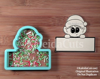 Elf on the Shelf 1 Cookie Cutter. Christmas Cookie Cutter. Elf Cookie Cutter. KaleidaCuts. Baking Gifts.