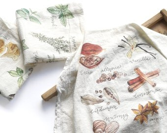 Set of 3 Tea Towels, Flour Sack Towel, Fall Tea Towel Set, Flour Sack Kitchen Towels, Flour Sack Dish Towels, Farmhouse Kitchen Decor