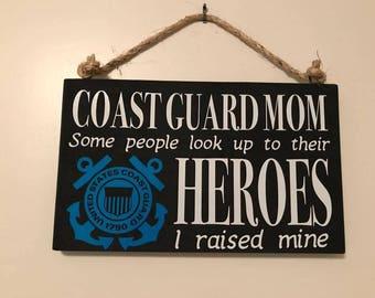 Coast Guard Hero Sign