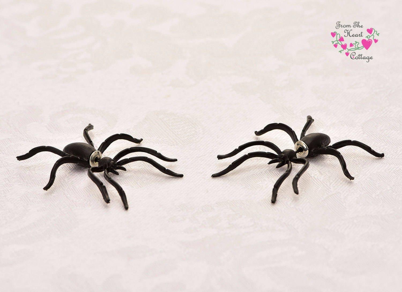 Spider Earrings Halloween Earrings Gothic Earrings Wiccan
